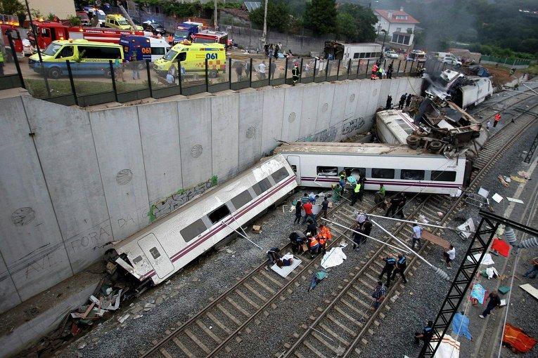 ispaniya - Катастрофа поезда в Испании